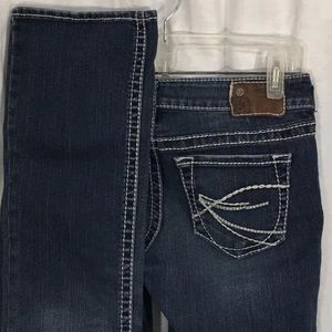 Silver Aiko Dark Wash Boot Cut Denim Jeans 27/33